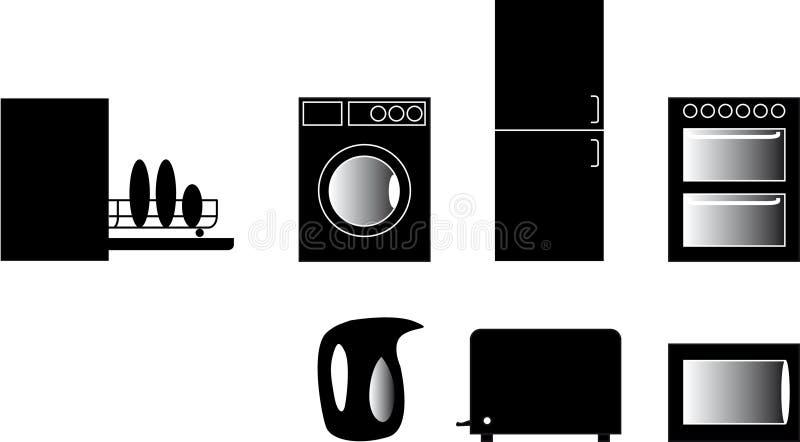 1个图标厨房 库存例证