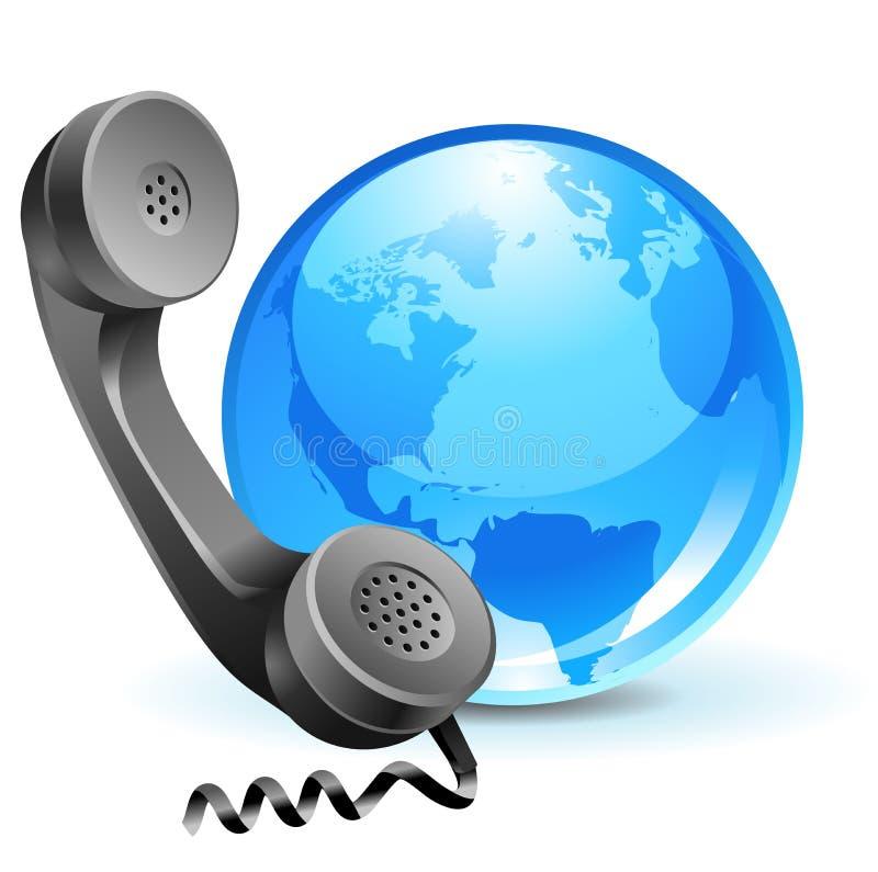 1个地球JPG电话 皇族释放例证