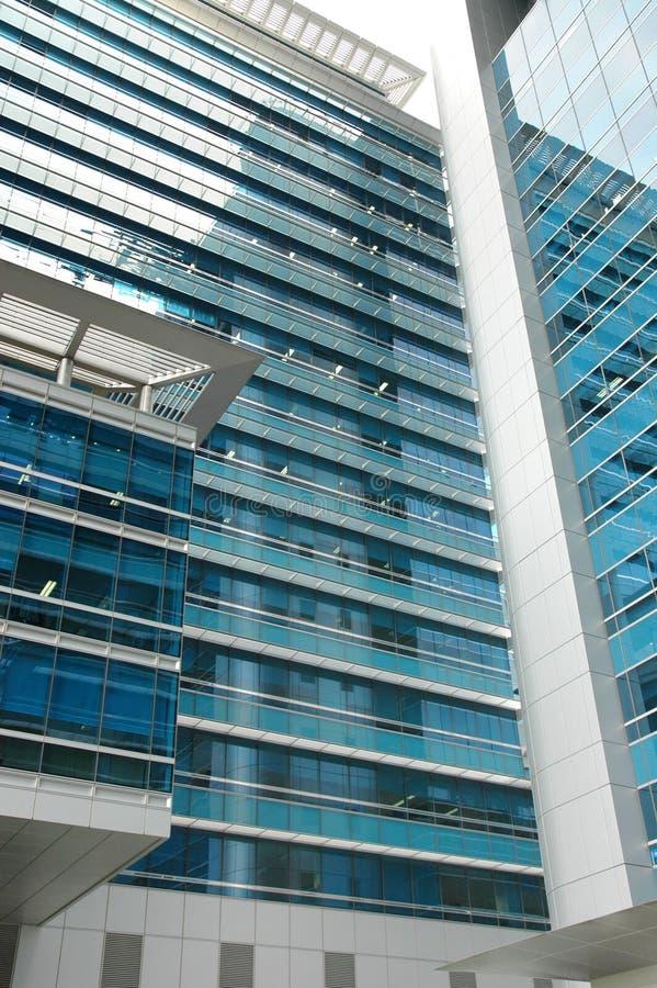 1个大厦现代办公室 免版税库存照片