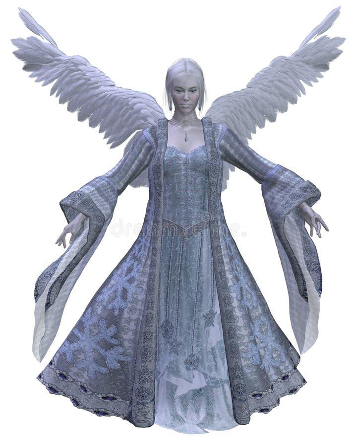 1个天使冬天 库存例证