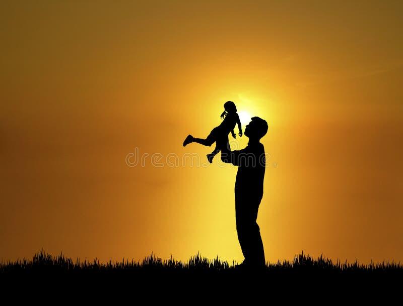 1个女儿父亲 库存照片