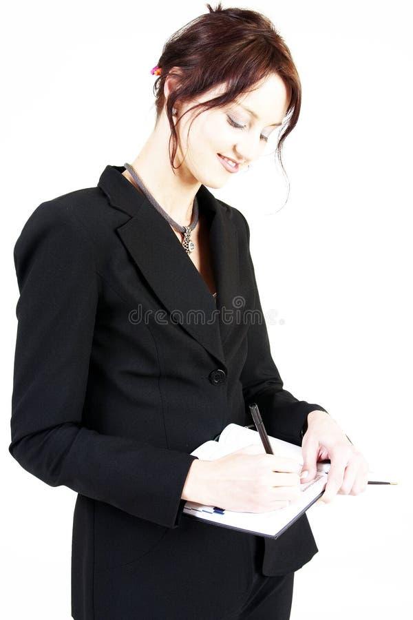 1个女商人 免版税库存图片