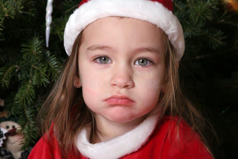 1个婴孩哀伤的圣诞老人 免版税库存照片