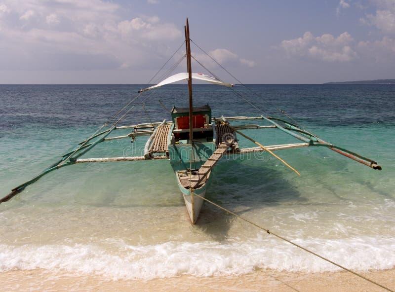 1个小船捕鱼菲律宾 库存照片