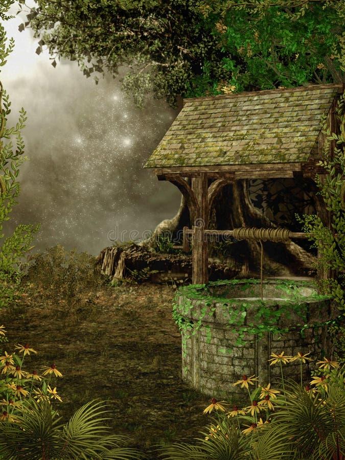 1个幻想庭院 库存例证