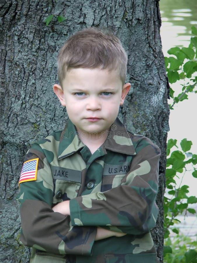 1个战士玩具 免版税图库摄影