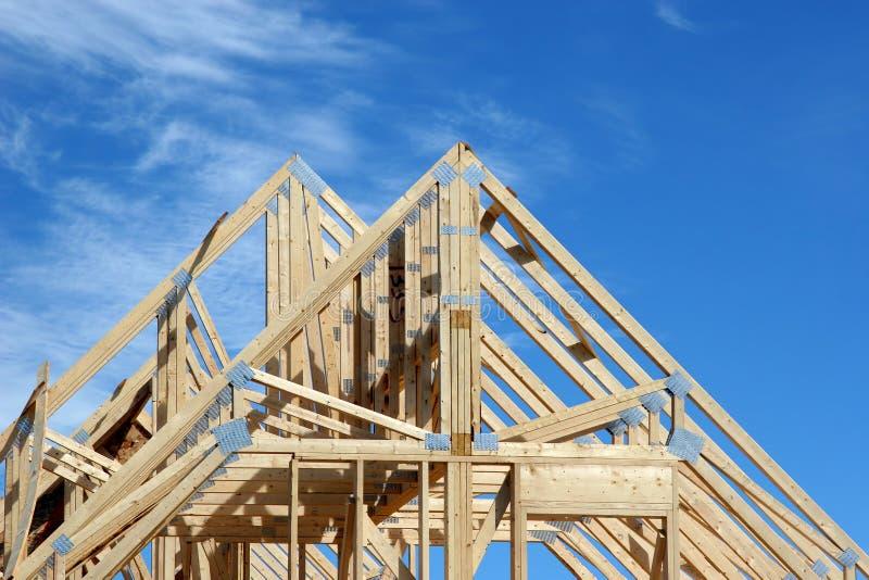 1个房子椽木 库存图片