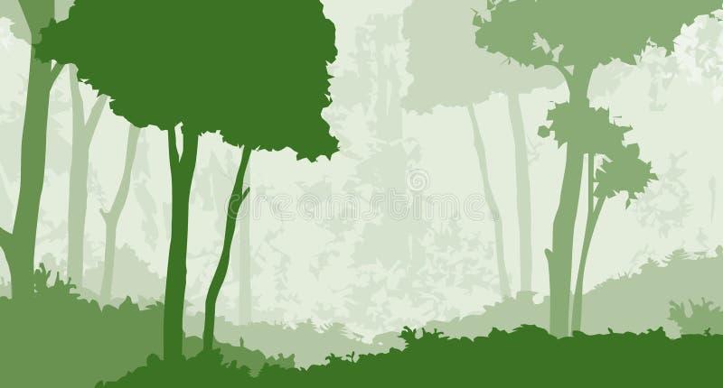 1个森林 库存例证