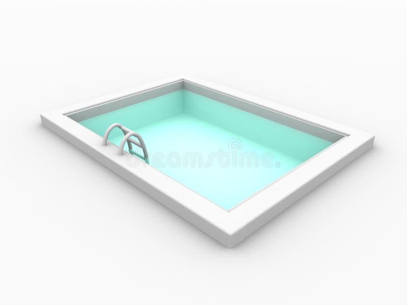 1个池 库存例证