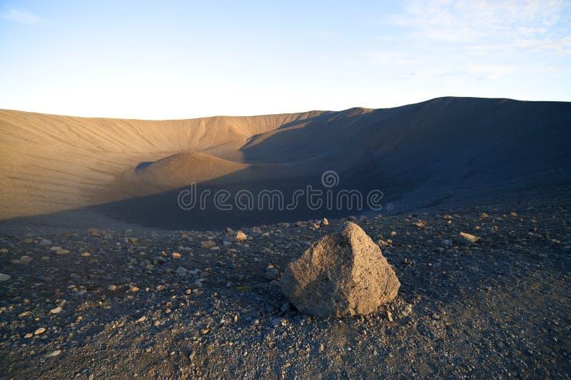 1个火山 库存图片