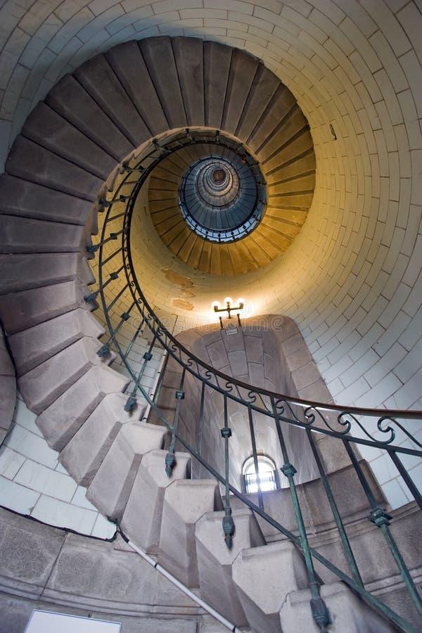 1个灯塔楼梯 免版税库存照片