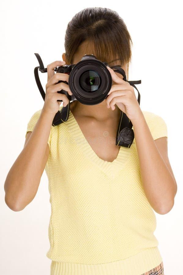 1个照相机女孩 库存图片