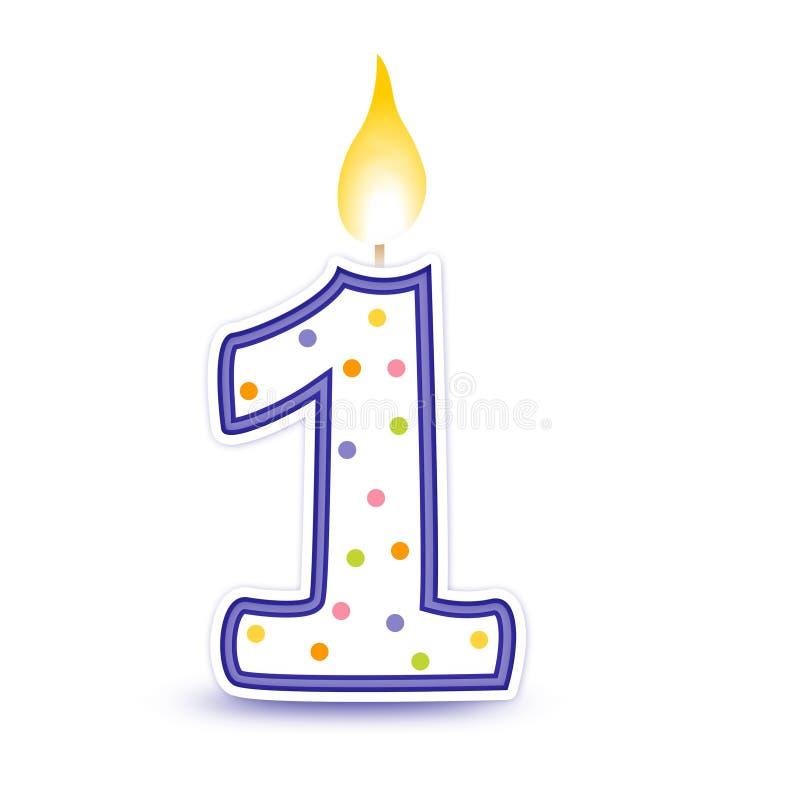 1个生日蜡烛 皇族释放例证