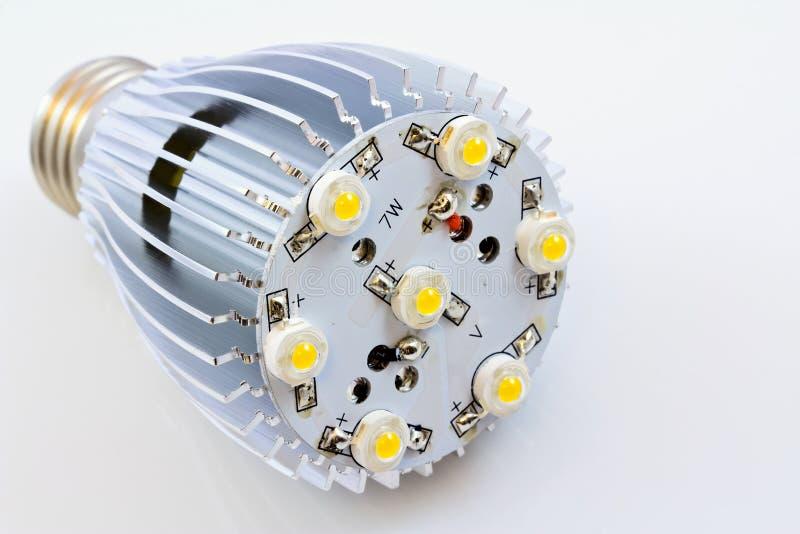 1个电灯泡筹码导致轻的smd瓦特 免版税库存图片
