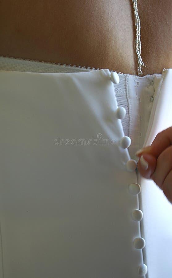 1个礼服婚礼 免版税库存图片