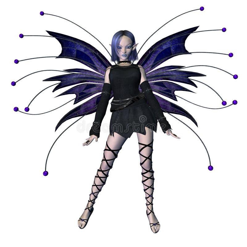1个神仙的goth冬天 向量例证