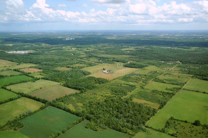 1个空中加拿大视图 免版税库存照片