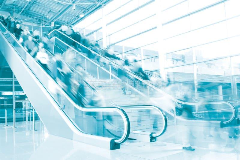 1个自动扶梯 免版税图库摄影