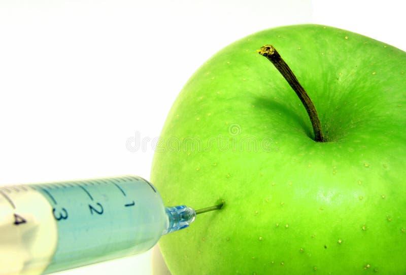 1个苹果gmo 免版税库存照片