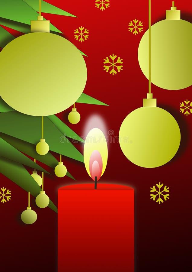 1个蜡烛圣诞节 库存照片