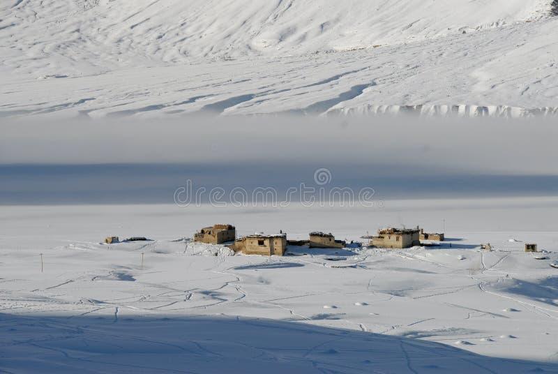 1个谷冬天zanskar 库存照片