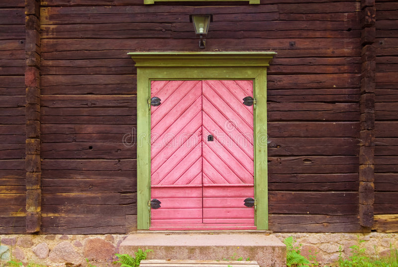 1个门粉红色 免版税库存照片