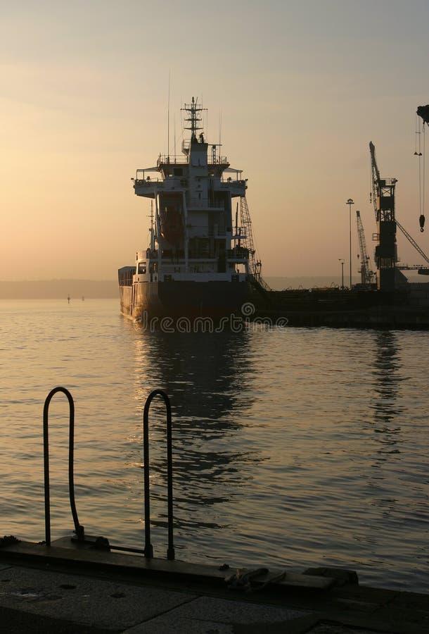 1个黎明码头 免版税库存图片