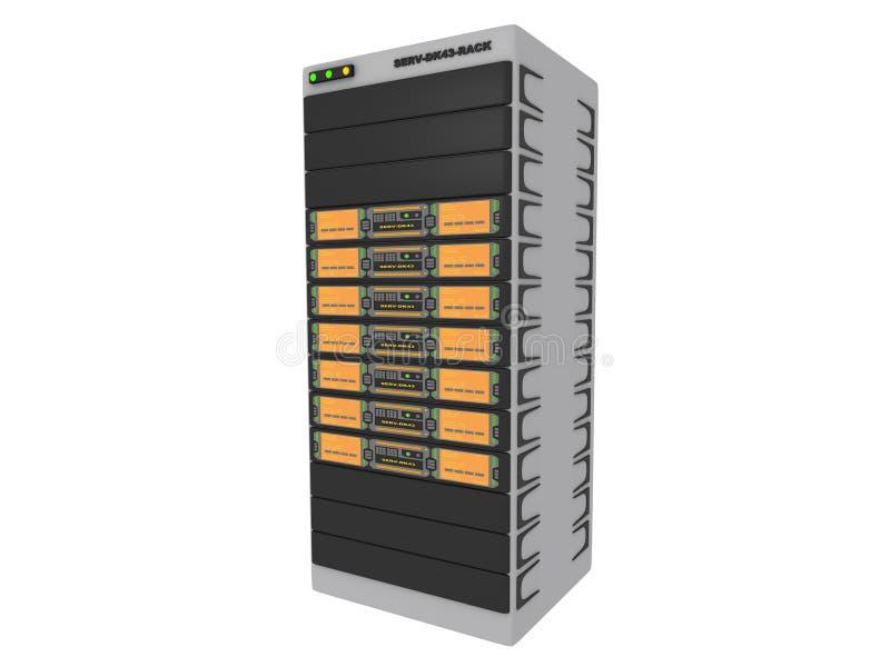 1个3d桔子服务器 库存例证