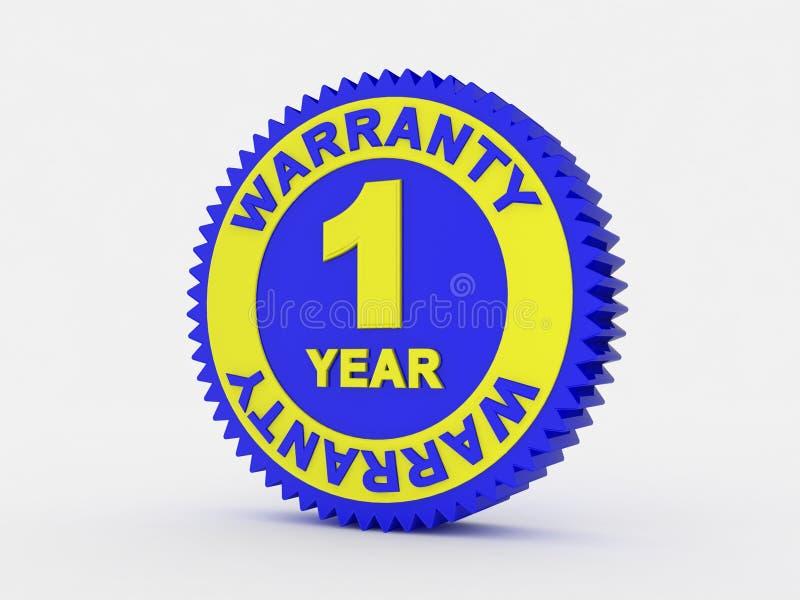1保修单年 向量例证