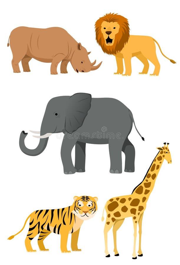 1动物图标集合通配 向量例证