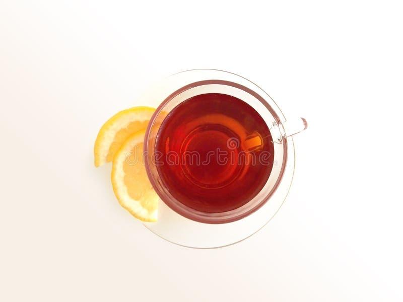 1包括的柠檬路径茶 免版税库存照片