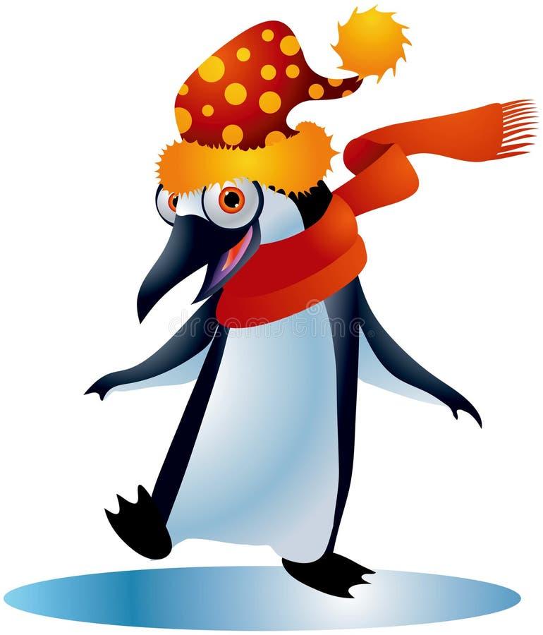 1只圣诞节企鹅 皇族释放例证