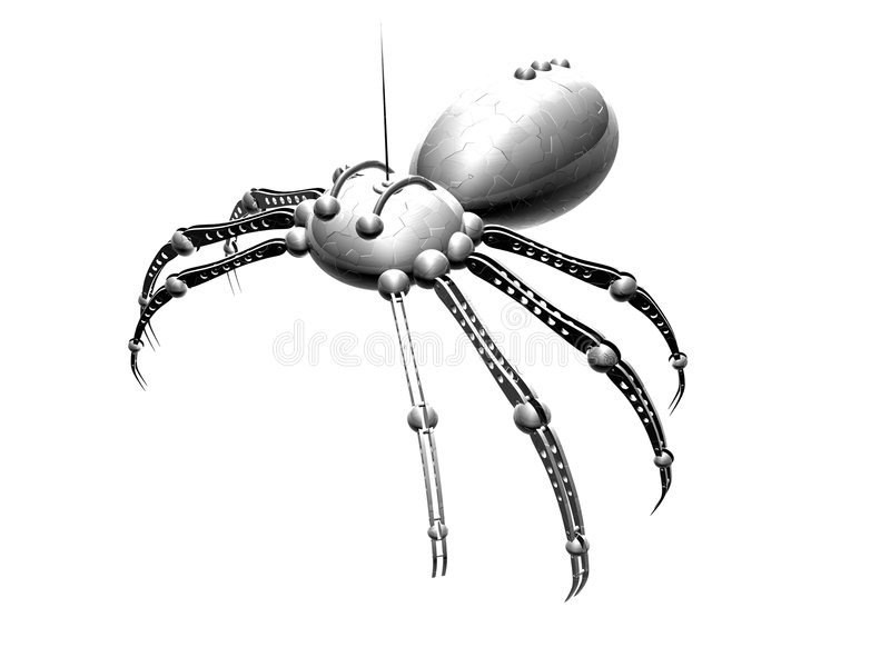 1只机器人蜘蛛 库存例证