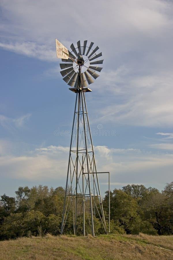 1台得克萨斯风车 免版税库存照片