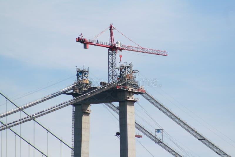 1台桥式起重机 免版税库存图片