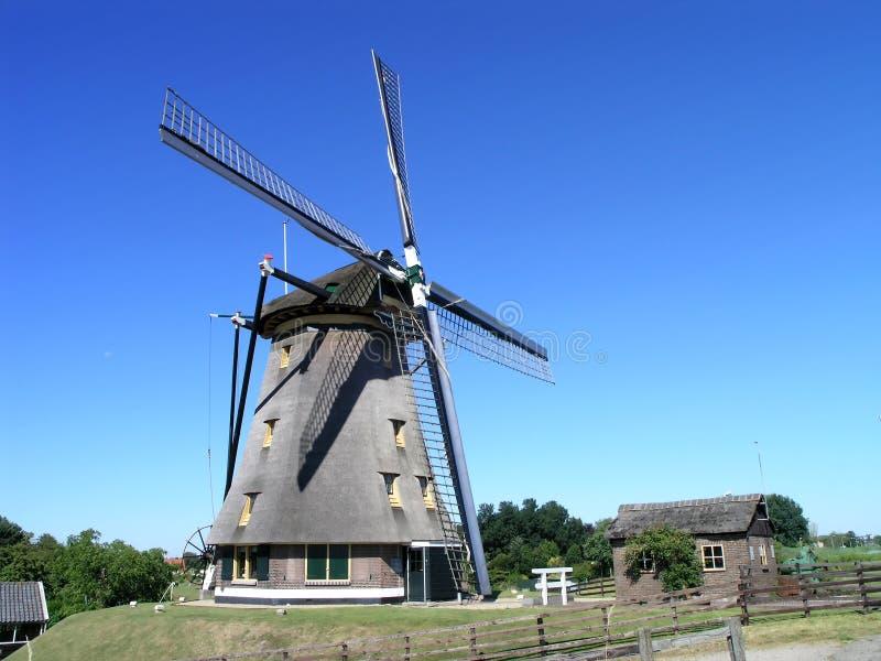 1台荷兰语风车 库存图片