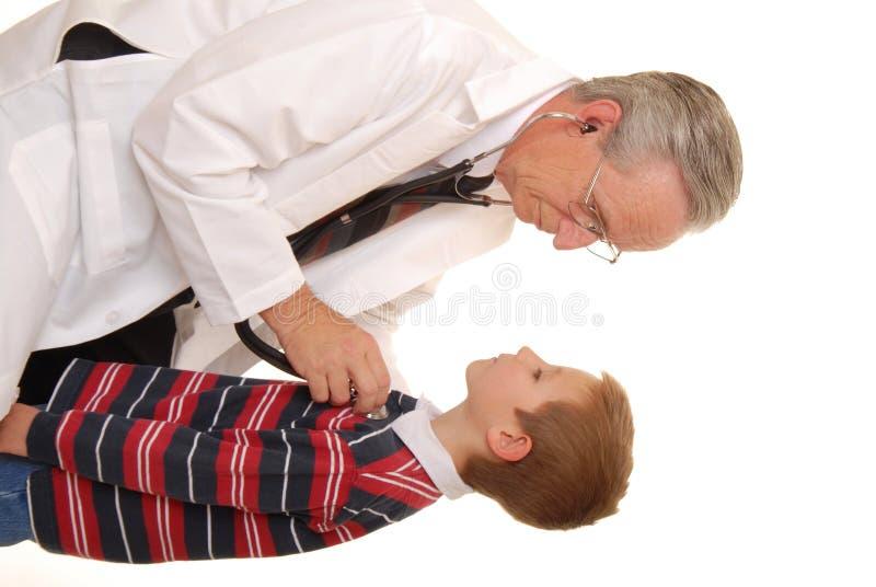 1名医生患者 库存图片