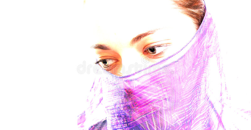 1名回教妇女 免版税库存图片