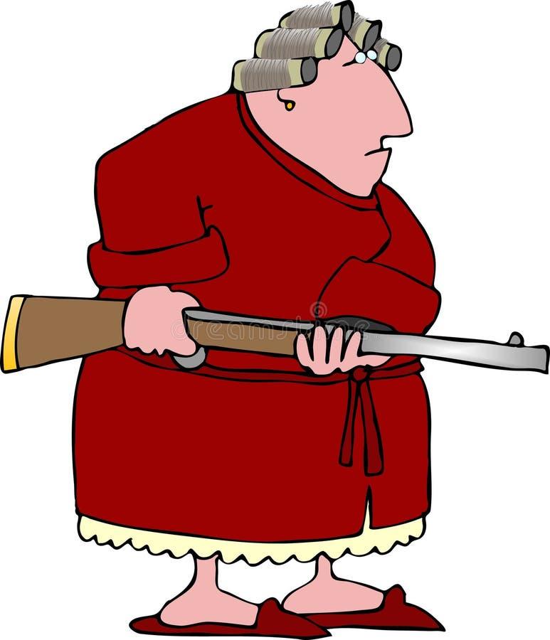1名恼怒的妇女 皇族释放例证