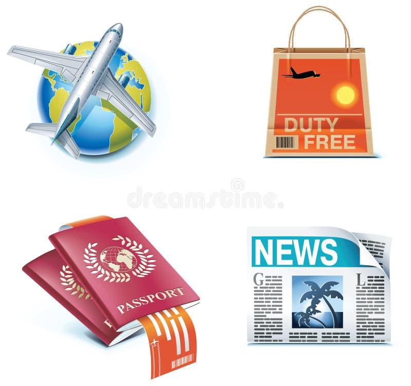 1图标分开旅行假期 皇族释放例证