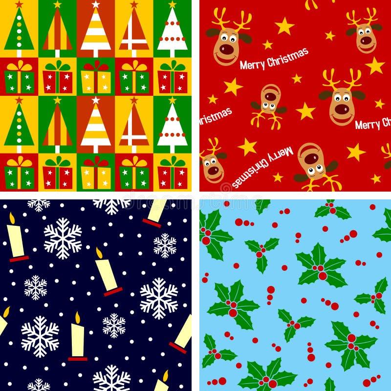 1圣诞节无缝的瓦片 库存例证