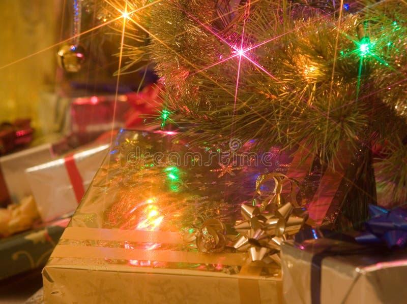 1圣诞节礼品 免版税库存图片