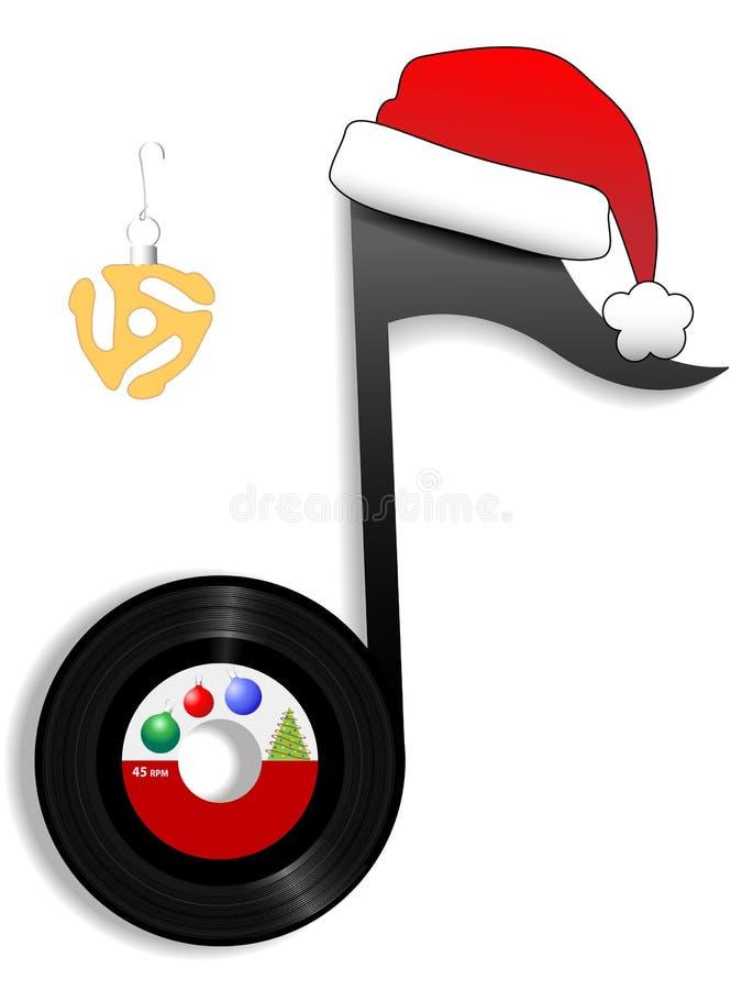 1圣诞节节假日音乐附注老人 库存例证