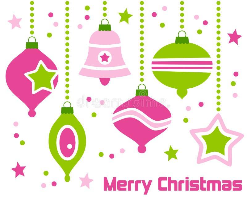 1圣诞节装饰减速火箭 库存例证