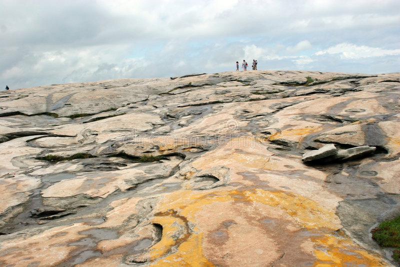 1块山公园石头 库存图片