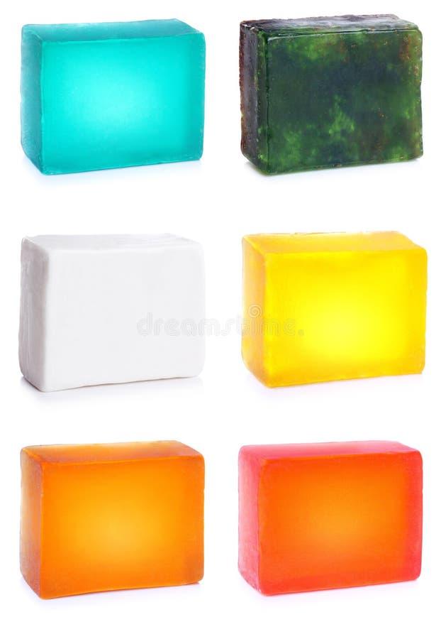 1块现有量查出的集合肥皂 库存照片