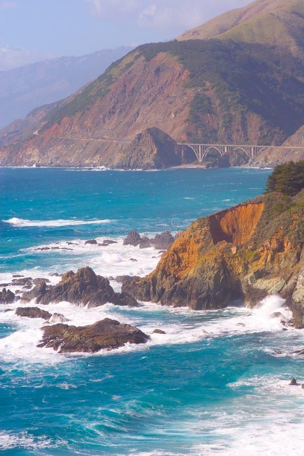 1大加州高速公路sur 图库摄影