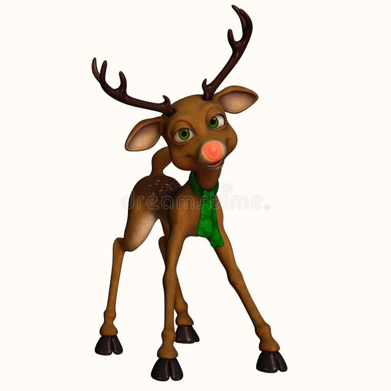 1头驯鹿印度桃花心木 向量例证
