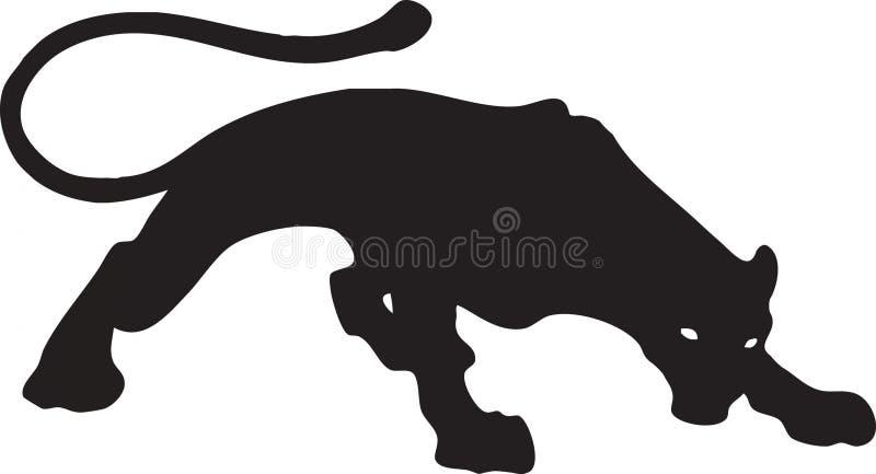 1头黑色美洲狮 免版税库存图片
