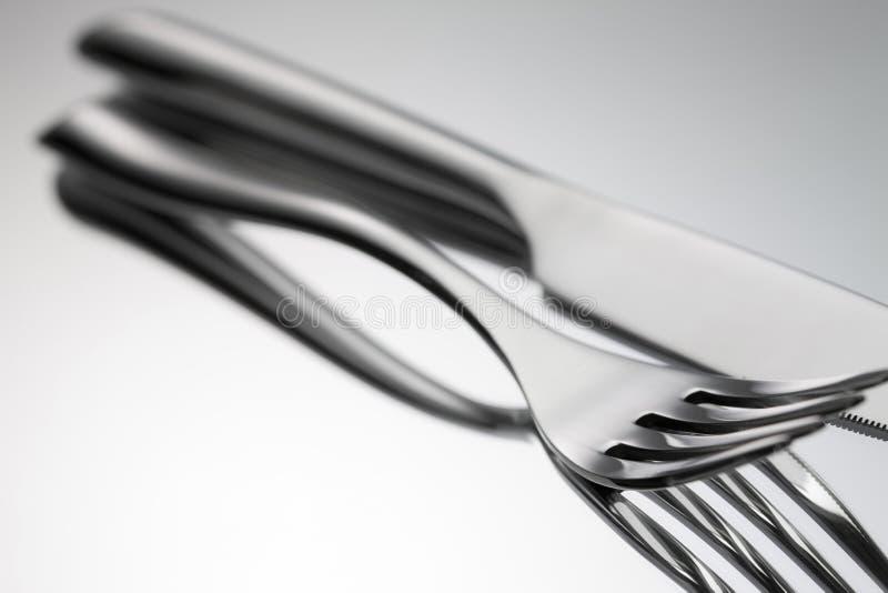 1套刀叉餐具 图库摄影
